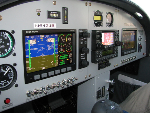 Glass Panel with Dynon EFIS/EMS/HS34, Garmin GTX 330, Garmin 430 GPS, and TruTrak Digiflight II VSGV Autopilot (can fly your flight plan, including coupled approaches!)